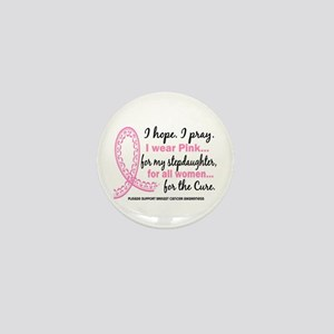 Hope Pray Wear Pink Breast Cancer Mini Button