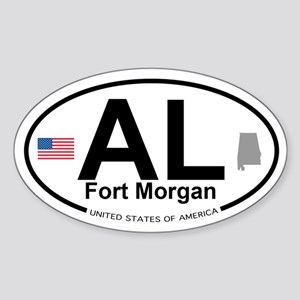 Fort Morgan Sticker (Oval)
