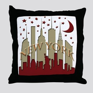 New York City Skyline hot Throw Pillow