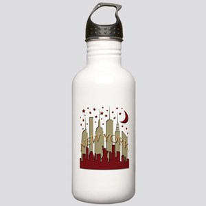 New York City Skyline hot Stainless Water Bottle 1