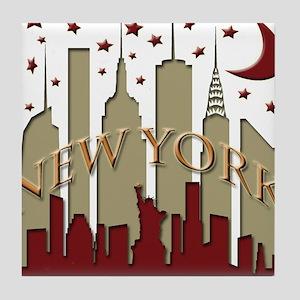 New York City Skyline hot Tile Coaster