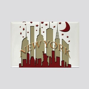 New York City Skyline hot Rectangle Magnet