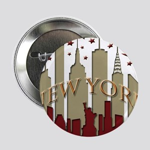 "New York City Skyline hot 2.25"" Button"