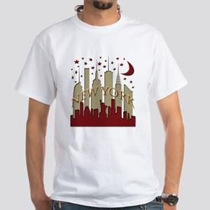 New York City Skyline hot White T-Shirt