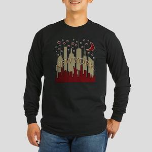 New York City Skyline hot Long Sleeve Dark T-Shirt