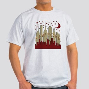 New York City Skyline hot Light T-Shirt