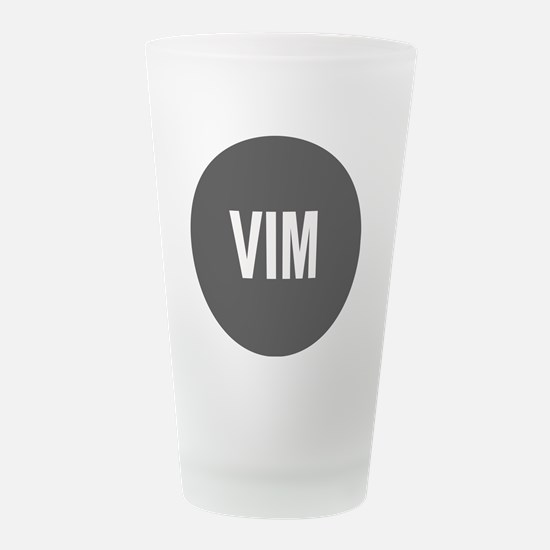 VIM.png Frosted Drinking Glass
