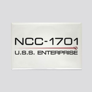 USS Enterprise 2009 Dark Rectangle Magnet