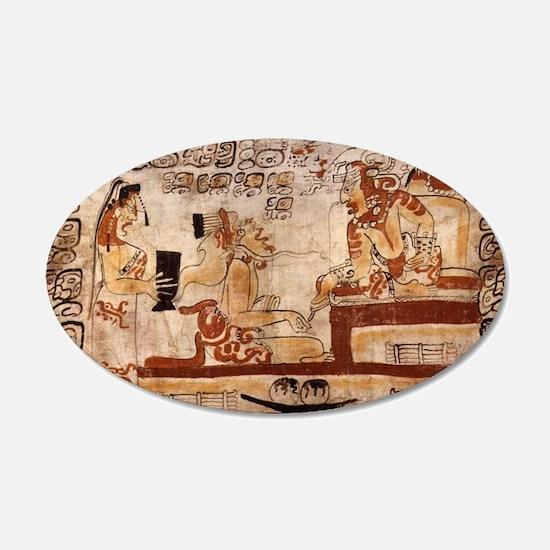 mayan painting Wall Decal