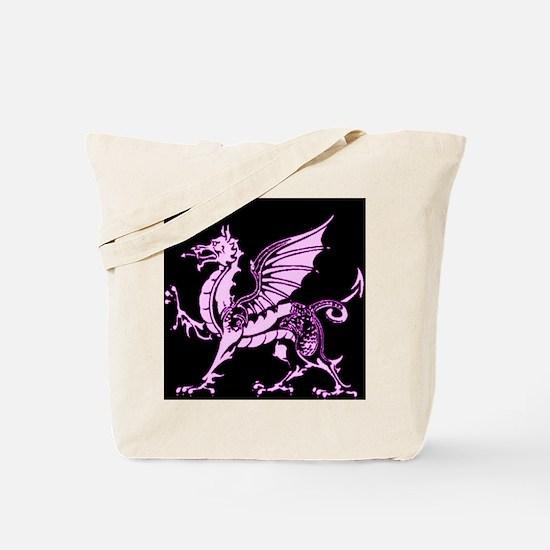 Amethyst and Black Dragon Tote Bag