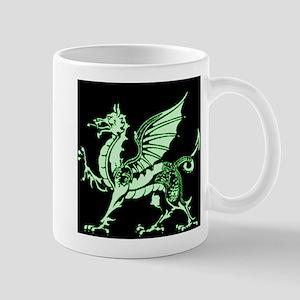Emerald Green and Black Dragon Mug