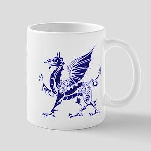 Sapphire and White Dragon Mug