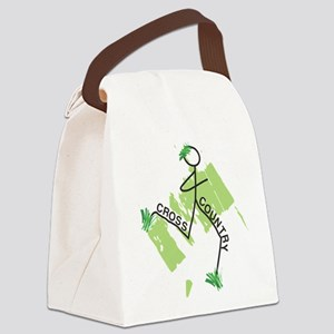 Cute Cross Country Runner Canvas Lunch Bag