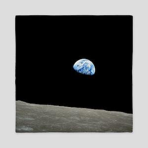 Earth Rise From Moon Queen Duvet