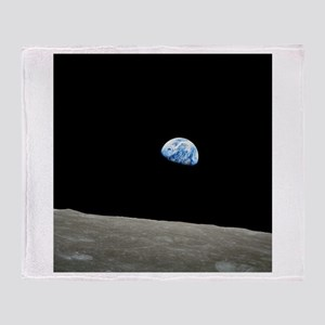 Earth Rise From Moon Throw Blanket