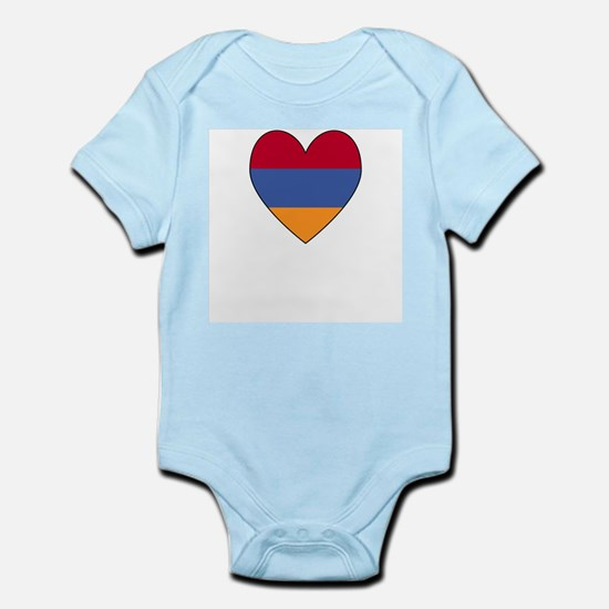 Flag of Aremenia Heart Infant Creeper