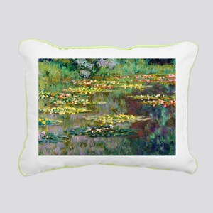 Monet - Le Bassin Rectangular Canvas Pillow