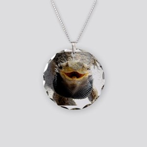 Bearded Dragon Necklace Circle Charm