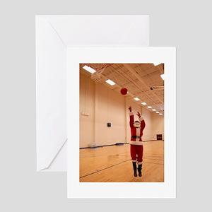 Basketball Santa Greeting Card