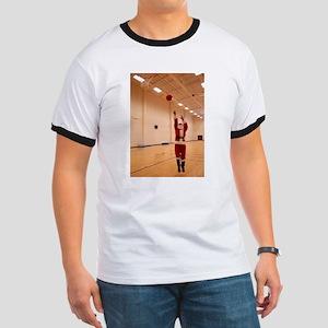 Basketball Santa Ringer T