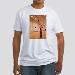 Basketball Santa Fitted T-Shirt