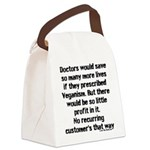 Saving Lives Canvas Lunch Bag