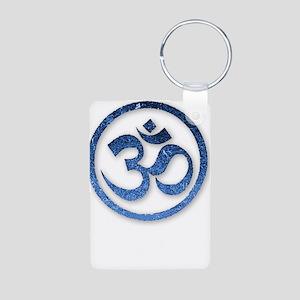 Om Symbol Aluminum Photo Keychain