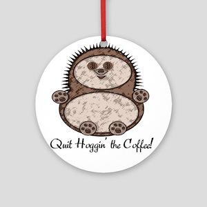 Hedgehoggin' the Coffee! Ornament (Round)