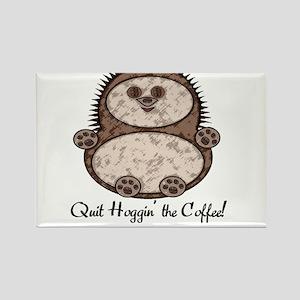 Hedgehoggin' the Coffee! Rectangle Magnet
