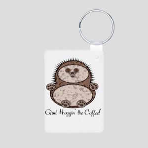 Hedgehoggin' the Coffee! Aluminum Photo Keychain