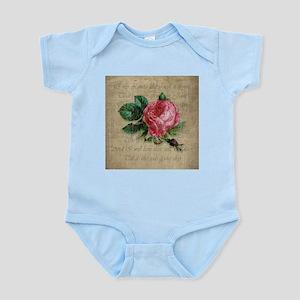 Vintage Love Like Red Rose Infant Bodysuit