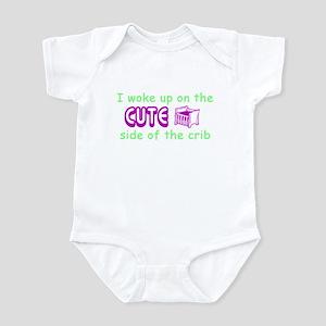 Tot Humor Wokeup Cute Infant Creeper