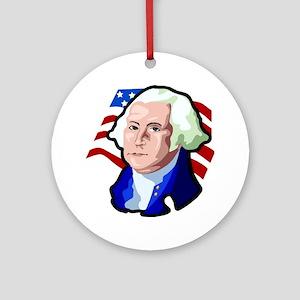 George Washington Ornament (Round)