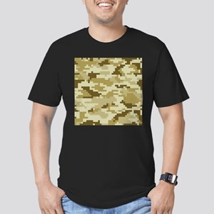 8 Bit Pixel Desert Camouflage Men's Fitted T-Shirt
