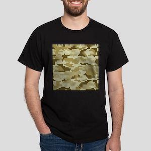 8 Bit Pixel Desert Camouflage Dark T-Shirt