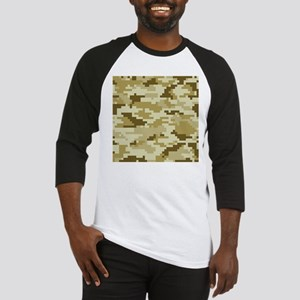 8 Bit Pixel Desert Camouflage Baseball Jersey