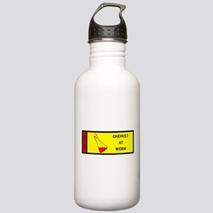 Caution - Chemist at work Stainless Water Bottle 1