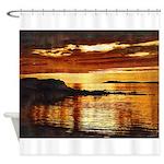 Machrihanish, Uisead Point Sunset Shower Curtain