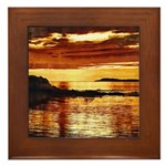 Uisead Point Sunset Framed Tile