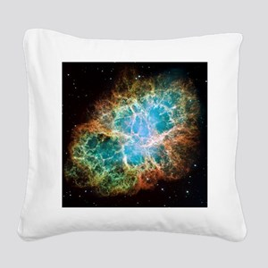 Crab Nebula (High Res) Square Canvas Pillow