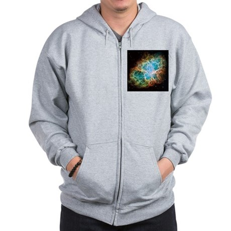 Crab Nebula (High Res) Zip Hoodie
