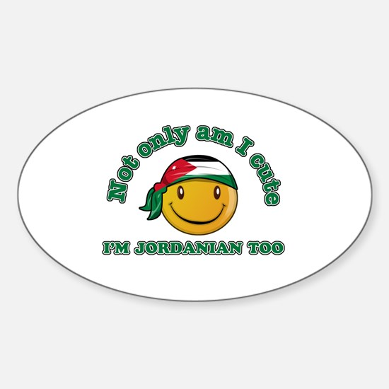 Cute and Jordanian Sticker (Oval)