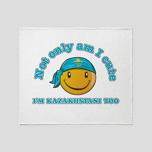 Cute and Kazakhstani Throw Blanket