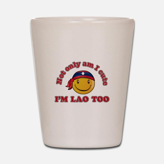 Cute and Lao Shot Glass