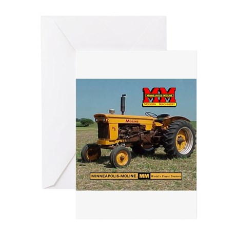 Minneapolis Moline Tractor Greeting Cards (Package