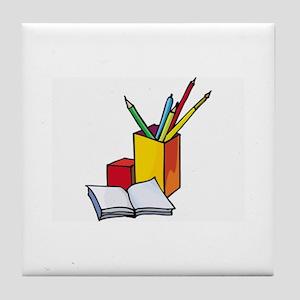 Book Tile Coaster