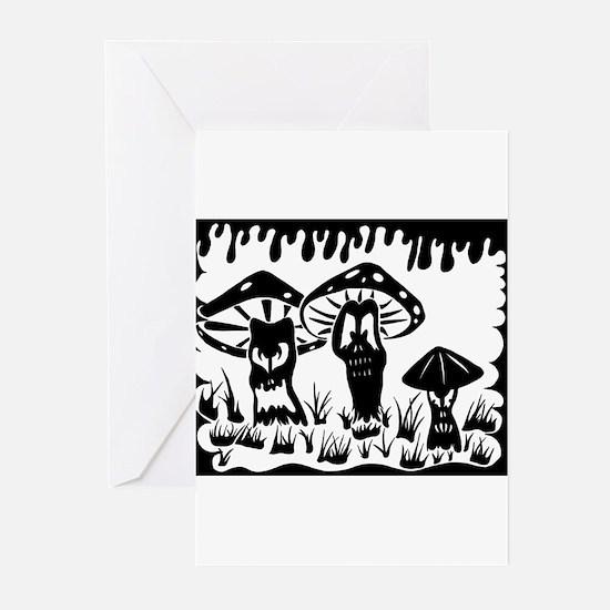 Shroom trio Greeting Cards (Pk of 10)