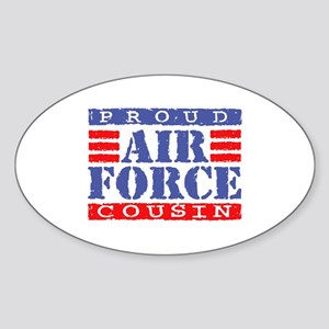 Proud Air Force Cousin Oval Sticker