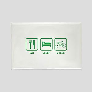 Eat Sleep Cycle Rectangle Magnet