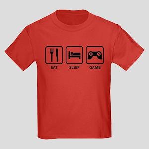 Eat Sleep Game Kids Dark T-Shirt